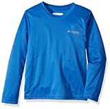 Columbia Boys PFG Reel Adventure Long Sleeve Shirt, Vivid Blue Fish Flag, Medium