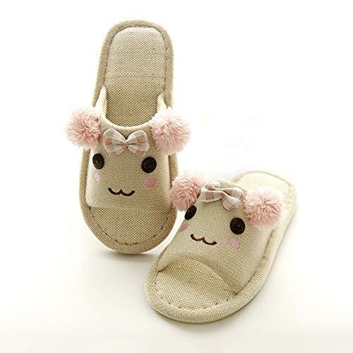 Pink Lin Style De D'intérieur Japonais Et Automne Taille En Coton Pantoufles 37 Td 38 couleur Hiver Green wqxfagI