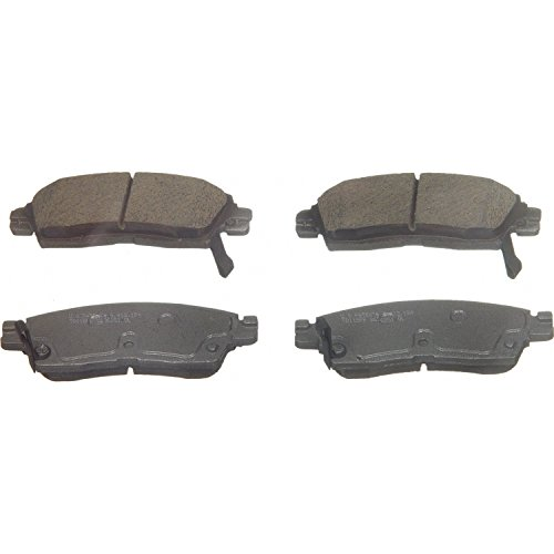Wagner ThermoQuiet QC883 Ceramic Disc Pad Set With Installation Hardware, Rear - 02 Chevrolet Trailblazer Brake Pad