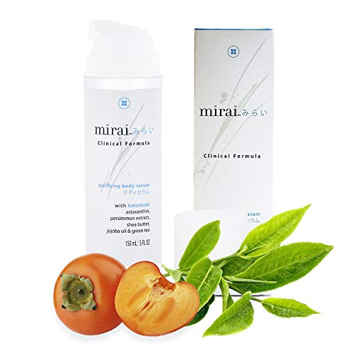 Anti-Aging Body Serum | Skin Moisturizer with Hyaluronic Acid, Jojoba Oil & Persimmon | Purifying & Deodorizing Body Serum by Mirai Clinical | 5oz