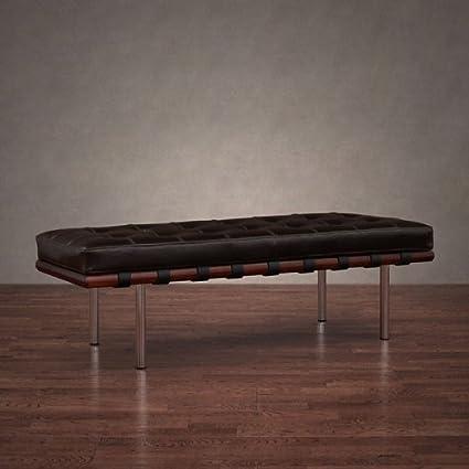 Enjoyable Andalucia Leather Walnut Wood 50 Bench Ibusinesslaw Wood Chair Design Ideas Ibusinesslaworg