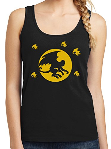 TshirtsXL Womens Flying Monkeys Graphic Tank Top, Large, Black