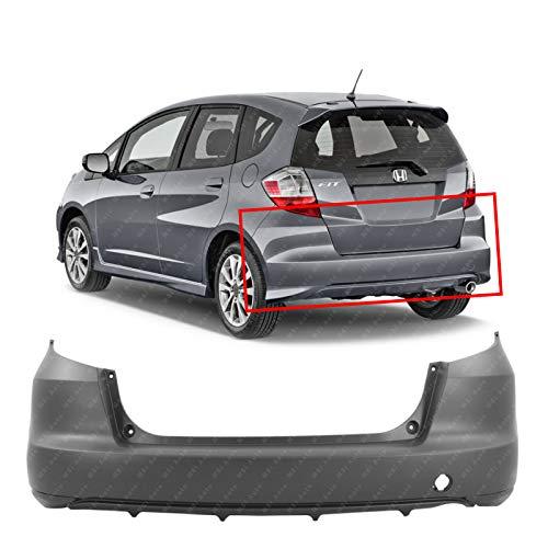 Honda Fit Bumper - MBI AUTO - Primered, Rear Bumper Cover Replacement for 2009-2014 Honda Fit Hatchback 09-14, HO1100255