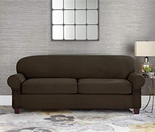 Sure Fit Designer Suede Individual Cushion 2-Seat Sofa Slipc
