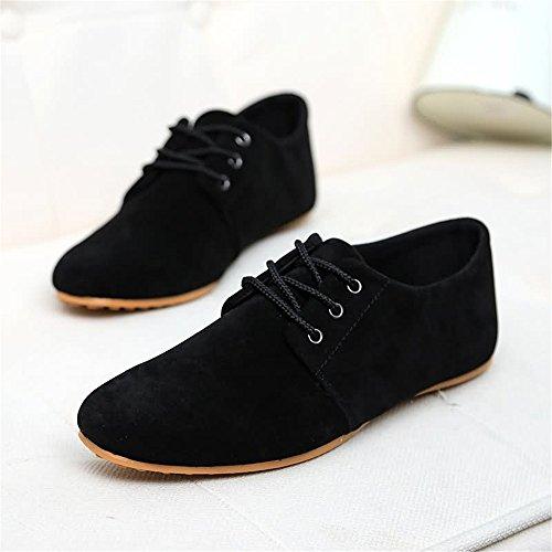 Superior Hombres Zapatos de de mocasín Moda shoes El para Shufang con conducción de aprovecha Barco Negro del Hombre Zapatos Estilo Mocasines los del los de el Cuero Mocasines Casual 2018 ZxBgnHqO