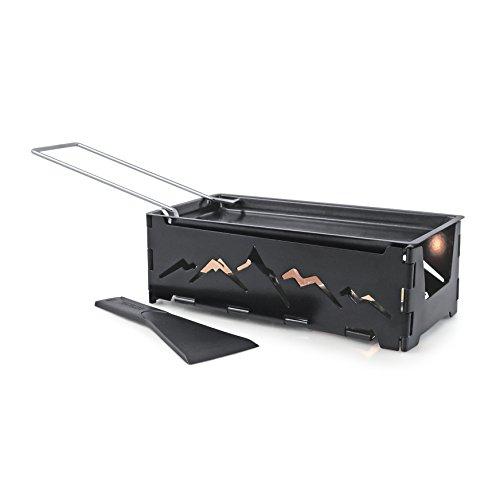 - Swissmar Nordic Foldable Candlelight Raclette, Black