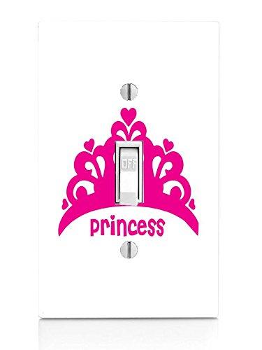 Princess Crown Hot Pink Tiara Light Switch Plate