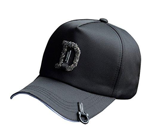 Cap Fashion Casuales Plegable Black Comodidad Béisbol Femeninos Sombrero D De Gorra Ajustable Flht Algodón Hip Y Masculinos Estudiantes Street Rhinestone Hop xBwYnCq6g