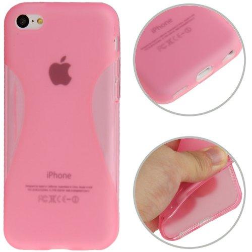 Handyhülle TPU Case für Handy Apple iPhone 5C pink