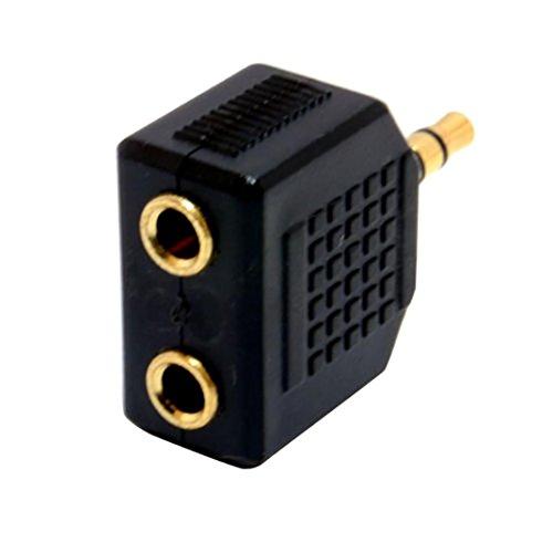 YJYdada Cable, 3.5mm Stereo Jack Headphone Splitter Adaptor 1 Plug to 2 Sockets
