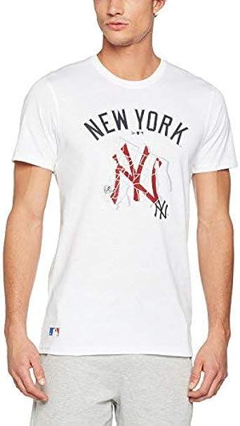 A NEW ERA Era MLB Location tee York Yankees Camiseta, Hombre, Blanco, X-Large: Amazon.es: Deportes y aire libre