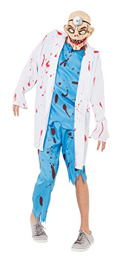 Bristol Novelty AC374 Mad Surgeon Costume, White, 44-Inch -