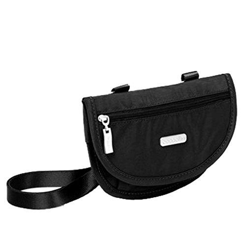 Baggallini Teenee Phone Belt Black Bundle Clutch Earphones Convertible Travel Crossbody RFID Bag rErxn4Cdqw