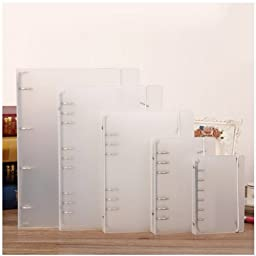 Chris-Wang 1Pc A5 Size 6-Holes DIY Clear Plastic Round Ring View Binder Binding Cover Protector with One Free Matched 2016 Calendar Board