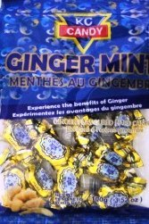 KC Ginger Mints (Case of 24 x 3.52oz) by KC Candy