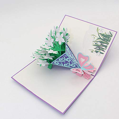 (Ketteb Children's Toys Websites 3D DIY Three-Dimensional Paper-Cut Card Decoration Anniversary Holiday)