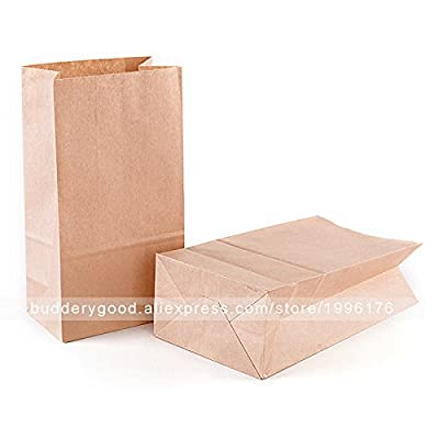 SaveStore 100pcs Brown Kraft Paper Bags Food Small Gift Bags Sandwich Bread Bags Party Wedding Favour Paper Gift Bag