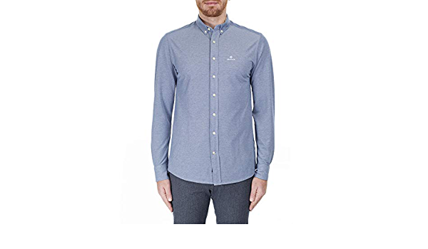 GANT Tech Prep Regular Piqué Shirt Camisa para Hombre: Amazon ...