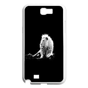 Samsung Galaxy Note 2 Case, Lion 11 Case for Samsung Galaxy Note 2 {White}