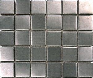 Stainless Steel Metal 2x2 Mosiac Sheets For Backsplash, Shower Walls,  Bathroom Floors