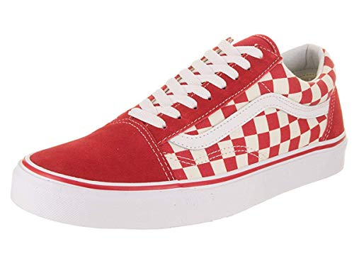 Vans Old Skool (Primary Check) Skate Shoes (9, Primary Check Racing Red White) (Red Vans Shoes Men)