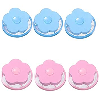 ????Libobo????6PC Mesh Filtering Hair Removal Floating Filter Bag Washer Style Laundry Clean