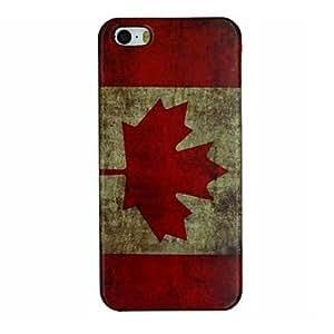 MOFY- la bandera nacional de canad‡ retro pattern pc caso duro para el iphone 5 / 5s