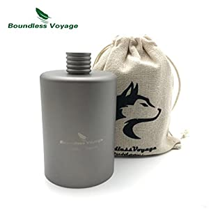Titanium Pocket Flagon Camping Portable Alcohol Drink Bottle Outdoor Sport Hip Wine Flask 1 PCS