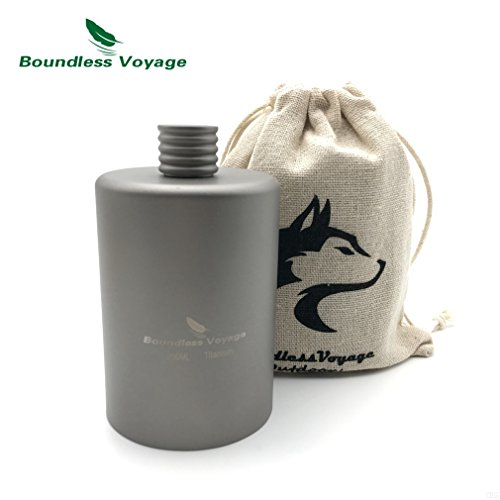 GADIEMKENSD Titanium Pocket Flagon Alcohol Drink Flask