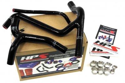 HPS (57-1243-BLK) Black Silicone Radiator Hose Kit for Kawasaki (Kawasaki Radiator)