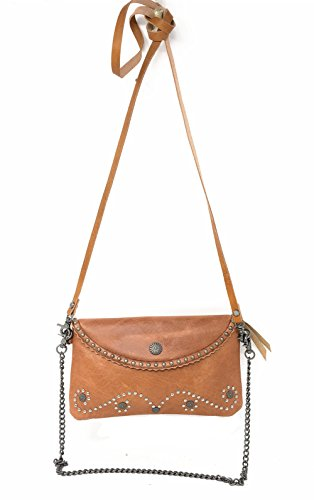 3 Clutch Crossbody Purse Brown West In Wallet Genuine Tooled Leather Colors Floral Womens Texas ZawPIWqSgW