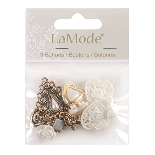 - Blumenthal Lansing 5500A-328 Favorite Findings Buttons, Lace Treasures, 9/Pkg