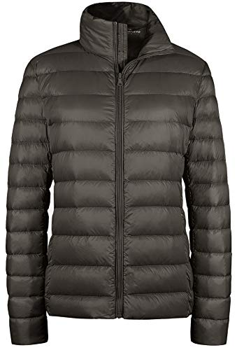 06f902d09 Wantdo Women's Packable Ultra Light Weight Short Down Jacket Light Coffee  Large