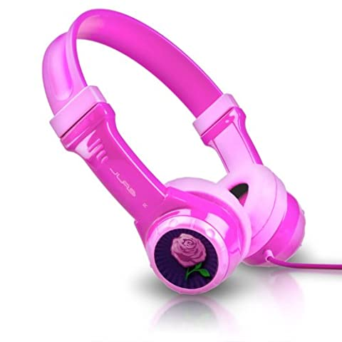 JLab Audio JBuddies Kids- Volume Limiting Headphones, GUARANTEED FOR LIFE - Pink