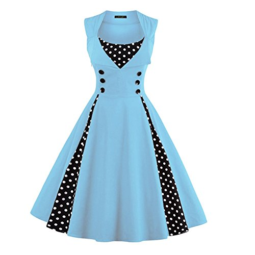 Qingxian Noche para Mujer Claro Azul Vestido 1Hrx1