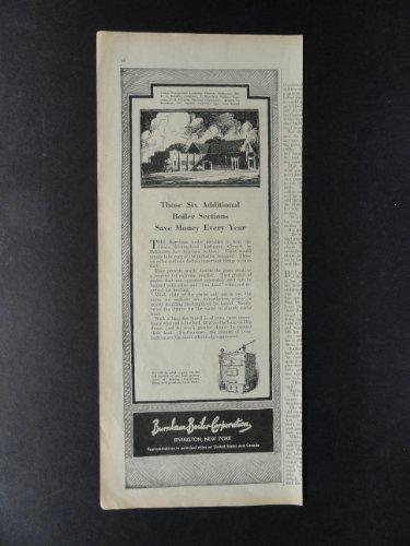 Burnham Boiler Corporation, print ad. 5 1/2