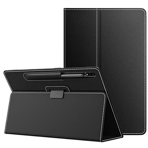 """MoKo Case Compatible with Samsung Galaxy Tab S7 11"""" 2020, Ultra Slim Tri-Fold Cover with Auto-Wake/Sleep & Pen Holder Fit Samsung Galaxy Tab S7 11 Inch 2020 SM-T870/SM-T875 ONLY - Black"""