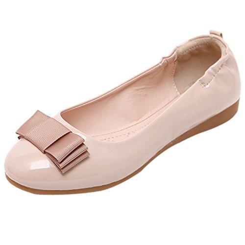 scarpe donna Beige Bowknot pieghevole ballerine DQQ Iqdwv14n