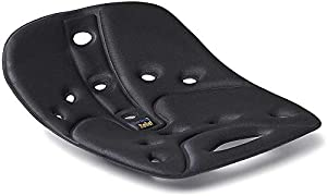 BackJoy SitSmart Fabric Posture Cushions | Lumbar Support for Lower Back Pain | Improve Posture | Car/Office/Hard Surface/Desk Chairs | For Adults (Sitsmart Relief, Black)