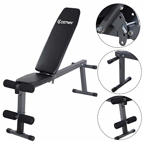 Adjustable Folding Sit Up AB Incline Abs Bench Flat Fly Weight Press Gym