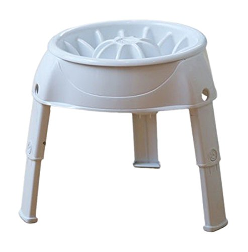 Price comparison product image Outward Hound 51010 3in1 Up Feeder Elevated Raised Slow Feed Prevent Bloat Dog Bowl, White