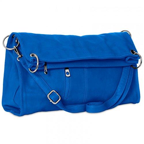 CASPAR TS561 Bolso de Bandolera para Mujer Bolso de Hombro en Varios Colores Azul Royal