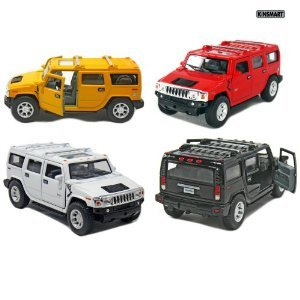 set-of-4-5-2008-hummer-h2-suv-140-scale-black-red-white-yellow
