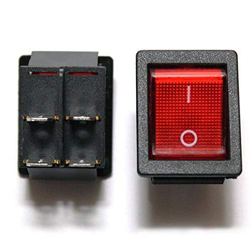 Snapin black offon illuminated rocker switch