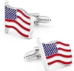 American Flag Red White Blue Cufflinks Patriotism Usa