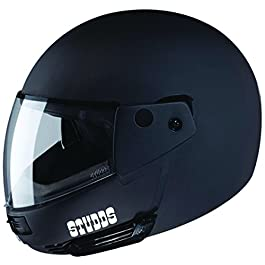 Studds Ninja Pastel Plain Flip Up Full Face Helmet (Matt Black, XL)