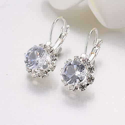 Campton Fashion Woman Multicolor Gold Silver Plated Crystal Ear Hoop Earrings Jewelry | Model ERRNGS - 777 |
