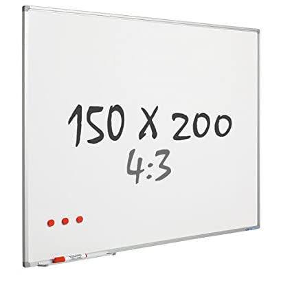 Whiteboard Pro de mate - Esmalte - magnético - 4: 3 - 150 x 200 cm ...