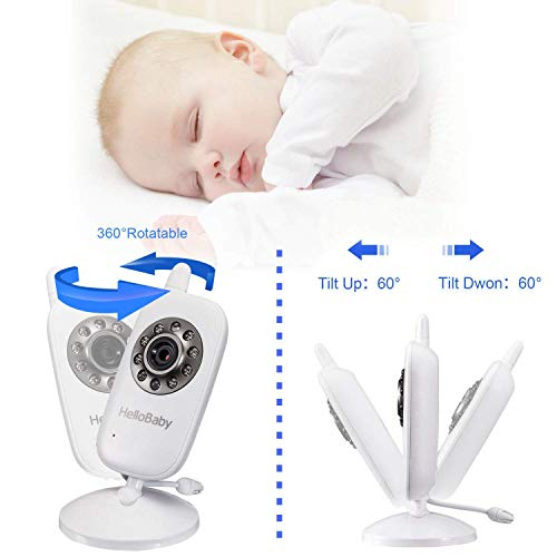 Video Baby Monitor with Camera and Audio  Keep Babies Safe with Night Vision Talk Back Room