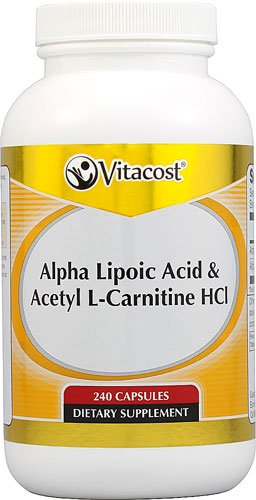 Vitacost Alpha Lipoic Acid & Acetyl L-Carnitine HCl -- 1600 mg per serving - 240 Capsules - 3PC by Vitacost Brand